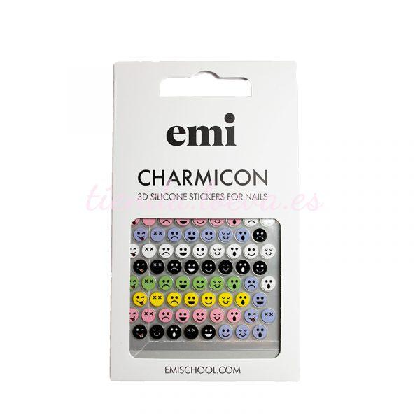 Charmicon 3D Silicone Stickers #197 Colored Smiles